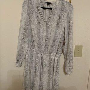 Hilary Radley soft snake skin tunic/dress BMWT